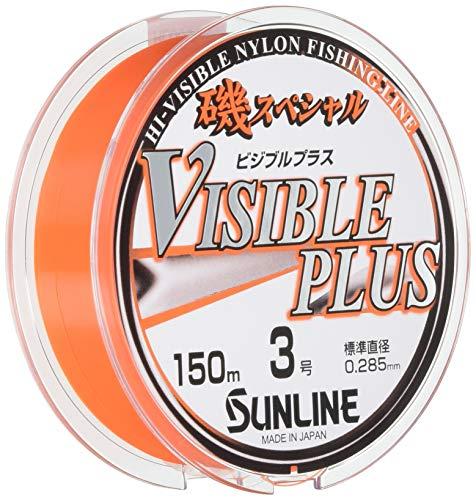 サンライン(SUNLINE) ナイロンライン 磯スペシャル ビジブルプラス HG 150m 3号 パッションオレンジ