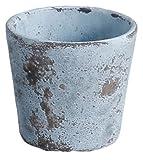 アビテ 植木鉢 アンティーク調 ミュル・ポット M ブルー JC-005-BL