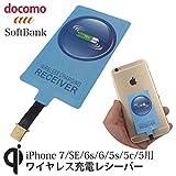 Sharllen 極薄 Qi ワイヤレス 充電レシーバー iPhone対応 (ブルー)