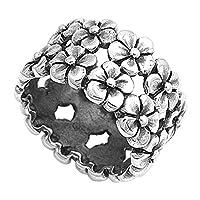スターリングシルバーレディースプルメリア花Eternityキュート925指輪サイズ5–10