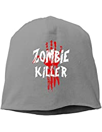 【Dera Princess】メンズ レディース ニット帽 Zombie Killerロゴ コットン ニットキャップ 帽子 オールシーズン 被れる