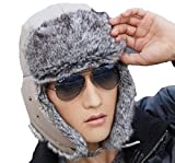 京都 おかげさまで パイロット キャップ あったか 飛行帽 選べる カラー 防寒 ニット帽 (ベージュ)