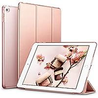 ESR iPad Mini4 ケース クリア iPad Mini4 カバー レザー PU スタンド機能 スリム傷つけ防止 オートスリープ ハード三つ折タイプ iPad Mini4(第四世代) 専用スマートカバー(ローズゴールド)
