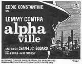 Alphavilleポスター映画スペイン語B 11?x 14?Eddie Constantineアンナ・カリーナエイキム・タミロフHoward Vernon Unframed 418753