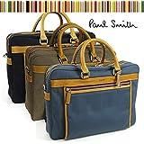 (ポール・スミス) Paul Smith ビジネスバッグ キャンバス+レザー 2WAYブリーフケース PSR161