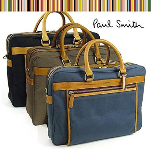 (ポール・スミス) Paul Smith ビジネスバッグ キャンバス+レザー 2WAYブリーフケース PSR161 ブラウンベージュ