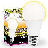 LED電球 E26 60W形相当 広配光タイプ 電球色 (GT-B-9WW-E26-3) 密閉器具対応 断熱材施工器具対応 E26口金 26mm 一般電球形 広角 9W LEDライト照明