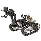 Goolsky TH ロボット RC タンク 戦車 Wifi スマート DIY クローラ マニピュレータ 480P HD カメラ付き PC Android IOS 制御監視支持 おもちゃ
