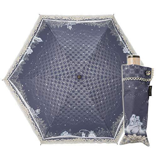 小川(Ogawa) クイックオープン 折りたたみ 晴雨兼用日傘 手開き 50cm ディズニー シンデレラ 魔法の時間 晴雨兼用 UV加工 遮熱遮光加工 はっ水 57169