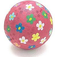 JOB-TOYS(ジョブトイズオリジナル)ナチュラルラバーボール flower 5in(約13cm)