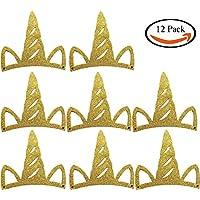 TAKIの部屋 12個セット 紙パーティーハット ユニコーン クラウン 帽子 飾り
