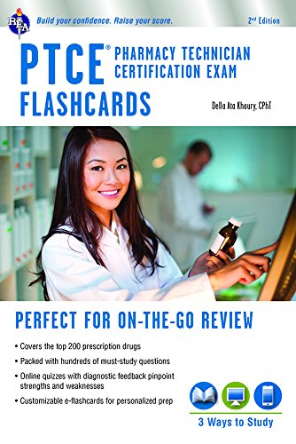 Download Ptce Pharmacy Technician Certification Exam Flashcard: Perfect for on the Go Review (Flash Card Books) 0738612227