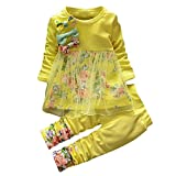 NIKE スニーカー ベビー服セット、ppbuy幼児用ガールズフローラルTシャツドレス+パンツ2pcs服装 24-36M ブラック