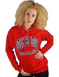 Girls Hoodie Top Edinburgh Scotland Red option Medium