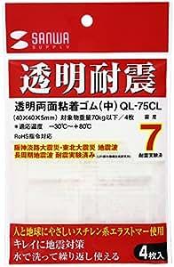 サンワサプライ 透明両面粘着ゴム(中) QL-75CL