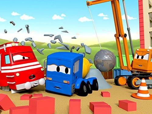 カーシティーにいる、列車のトロイと解体クレーンのデーン & 山で立ち往生|子供向け自動車&トラックアニメ