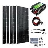 ECO-WORTHY 800W 太陽光発電単結晶ソーラーパネル 45Aチャージコントローラー 付属