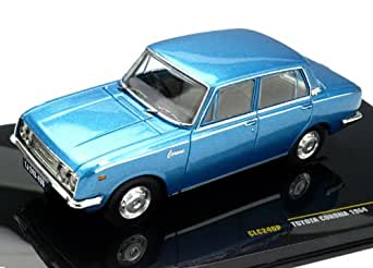 イクソ 1/43 トヨタ コロナ 1964 メタリックブルー 完成品