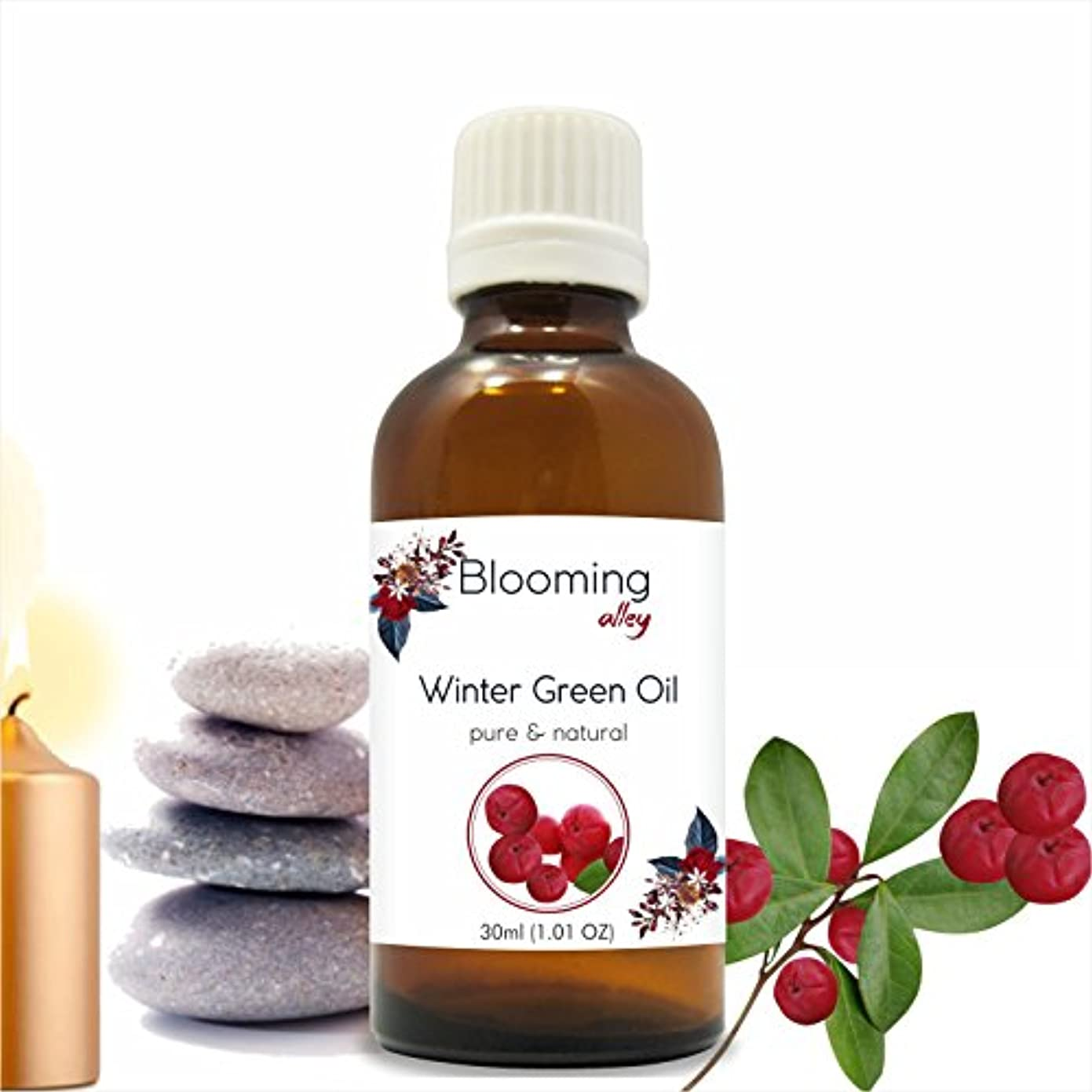 冒険家みがきます焦がすWintergreen Oil(Gaultheria Procumbens) Essential Oil 30 ml or 1.0 Fl Oz by Blooming Alley