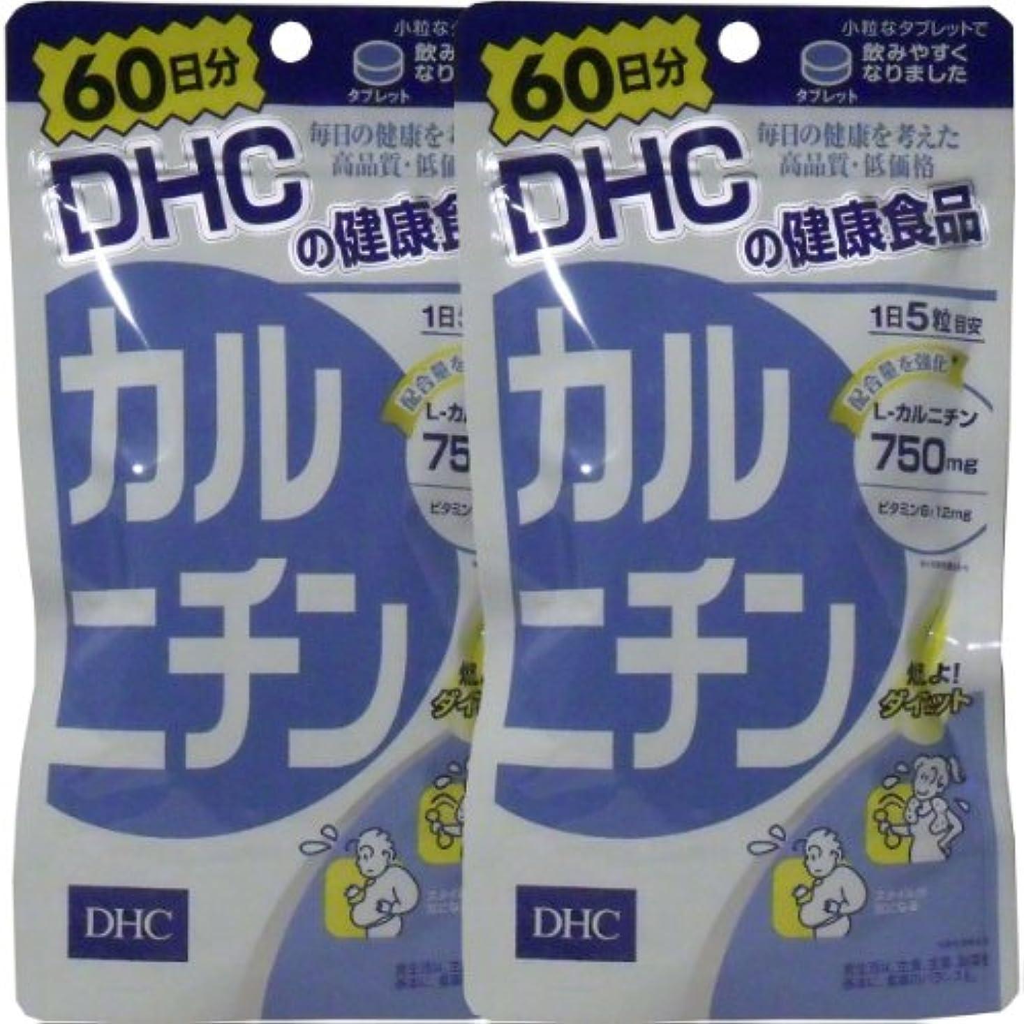 憂鬱日付付き減らすDHC カルニチン 300粒 60日分 ×2個セット