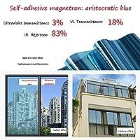 HANSHAN 窓フィルム 反射ウィンドウフィルム、ミラー一方向昼間プライバシー抗uv静的しがみつくウィンドウフィルム取り外し可能な装飾スクリーンステッカーシェーディングアーティファクト5ピース (Color : B, Size : 28×197inch)