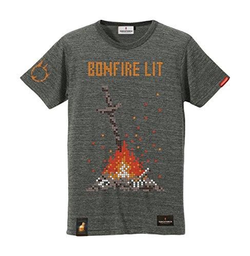ダークソウル × TORCH TORCH/ 8bitの篝火のTシャツ: ヘザーチャコール Lサイズの詳細を見る