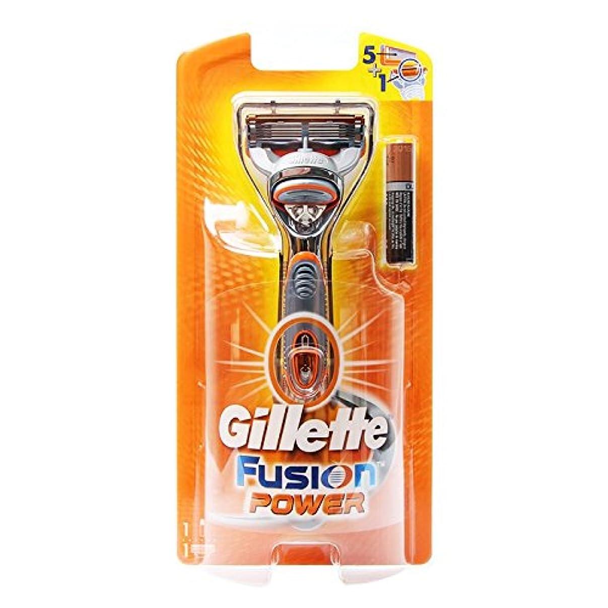 書き出す人間しがみつくGillette Fusion power 1 かみそり [並行輸入品]