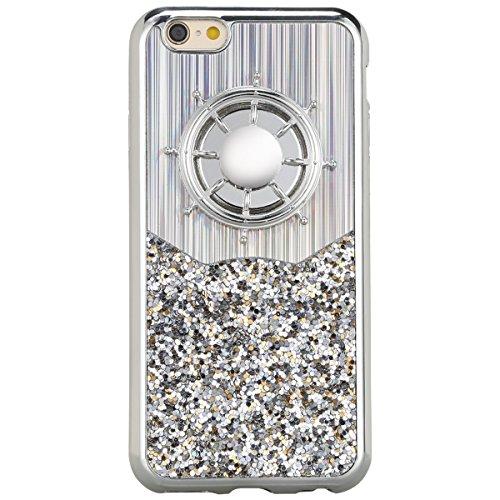 KIVORS iphone 6・6S Plusケース ハンドスピナー付き おしゃれな スパンコール アイフォンケース アイフォン6・6S Plus用 四色