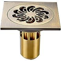 深い水シール浴室の床排水、抗臭いスクエアキッチングランドドレナ/シャワードレン洗濯機デュアルユースハードウェアアクセサリ銅材 (形状 : Single Use)