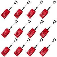伸縮式 軽量スノーショベル(雪かきスコップ) レッド 12本セット 長さ88-71cm SVL88-12P-RED