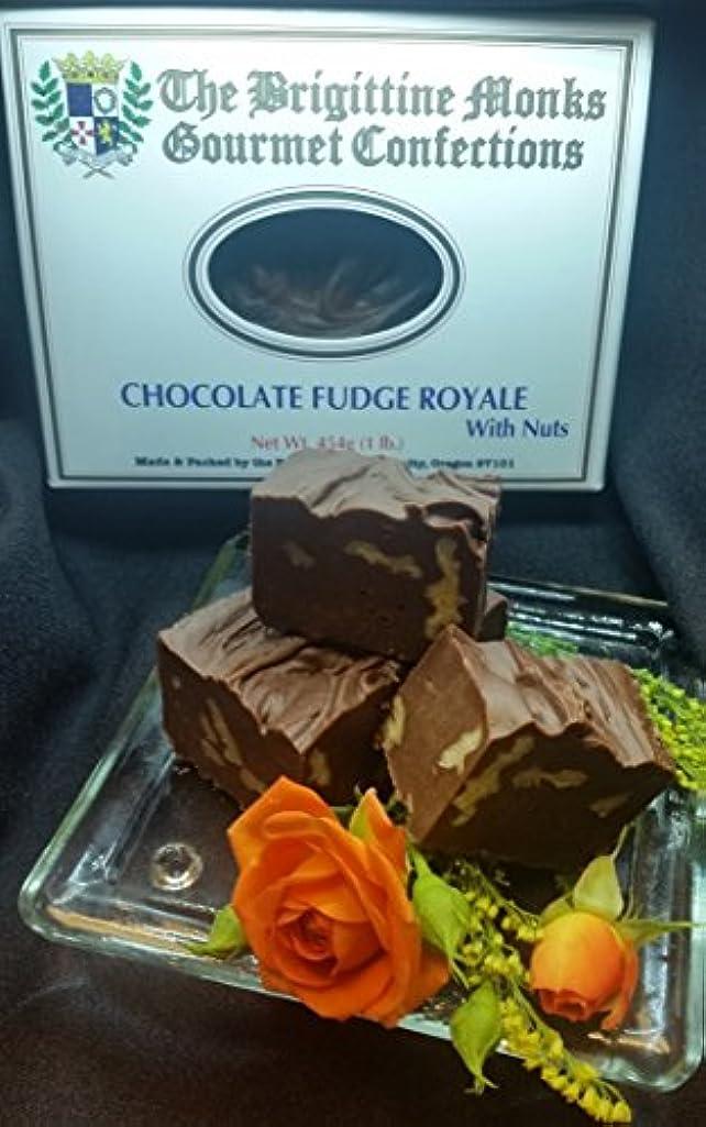 入る現れる動Brigittine Monks チョコレート ファッジ ロワイヤル(ナッツ1ポンド)修道院のお菓子