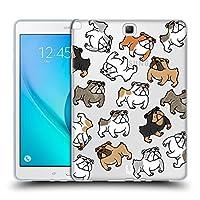 Head Case Designs ブルドッグ ドッグブリード・パターン Samsung Galaxy Tab A 9.7 専用ソフトジェルケース