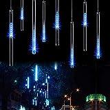 OFTEN  LEDイルミネーション ストリングライト 流星 防水 LEDツララスティックライト 流星 パーティー クリスマス お庭や街路樹装飾ライト 30cm 8本セット 4色入れ(ブルー)
