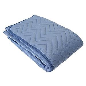 昭和西川 敷きパッド ブルー 100×205cm サラッとフワッと 接触冷感ひんやり敷きパッド Amazonオリジナル2018年企画