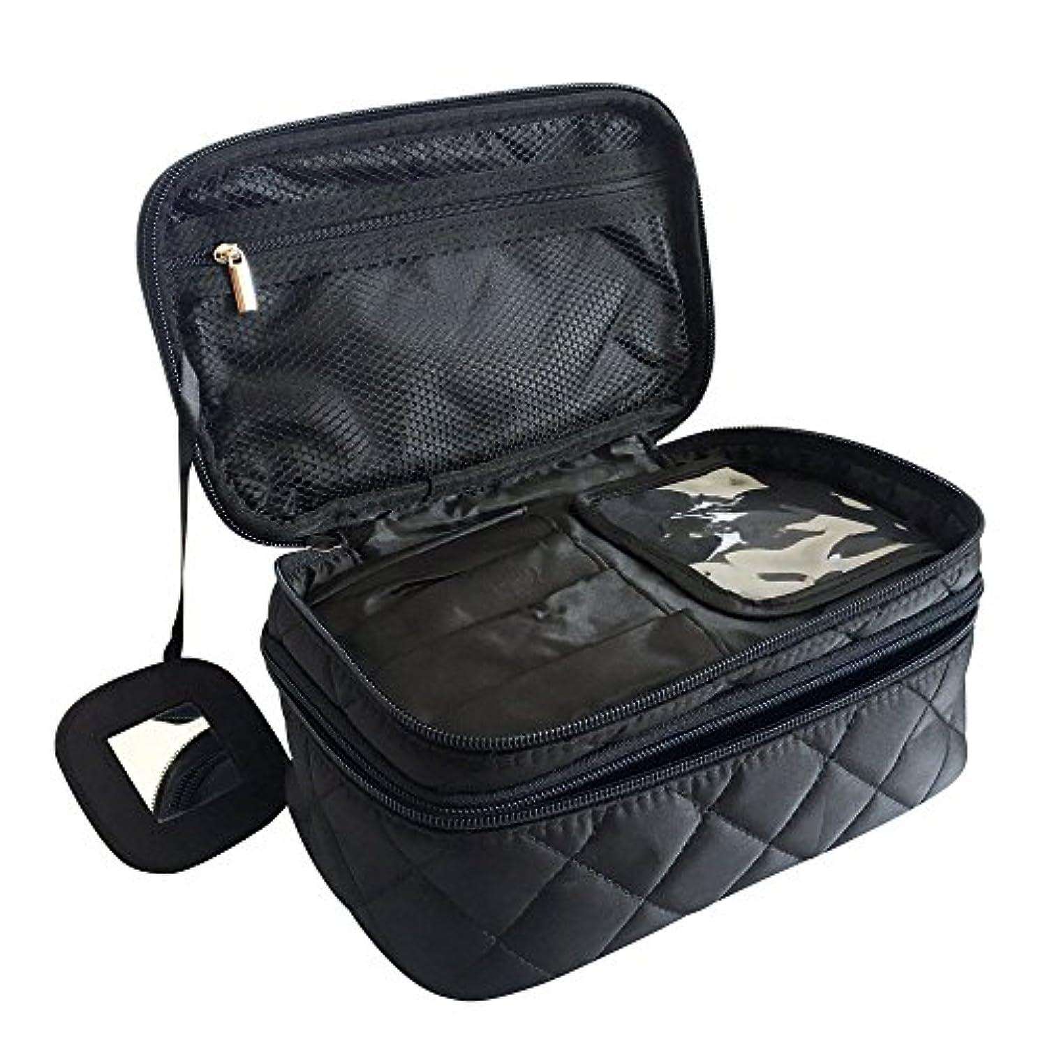 裸波あなたが良くなりますONEGenug プロ用 メイクボックス 高品質 多機能 多容量 メイクブラシバッグ 収納ケース スーツケース・トラベルバッグ 化粧 バッグ メイクブラシ 化粧道具 小物入れ 23cm×14cm×10cm