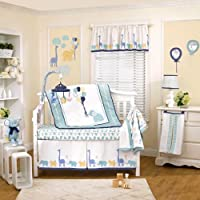 Happy Animals 4 Piece Baby Crib Bedding Set by Petit Tresor by Cocalo