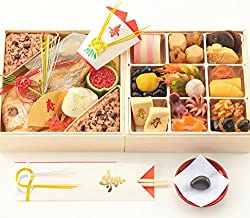 お食い初め豪華二段セット 日本橋正直屋 和食伝統料理の老舗 これ一つでお食い初めの儀式が出来ます (お重盛付タイプ)