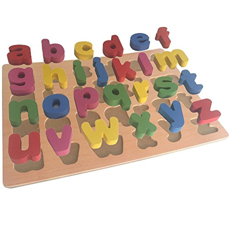 rSky赤ちゃん教育木製おもちゃ形状色番号の文字認識、幼児用キッズ子供 マルチカラー AWANAE