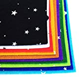 GJTr 柄 サイズ 厚み が選べる フェルト 生地 星 スター 10色 30 × 30cm 1mm