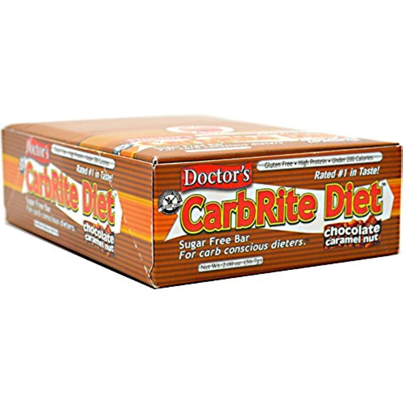 フォアマンクラスそしてUniversal Nutrition, Doctor's CarbRite Diet, Chocolate Caramel Nut, 12 Bars, 2.0 oz (56.7 g) Each
