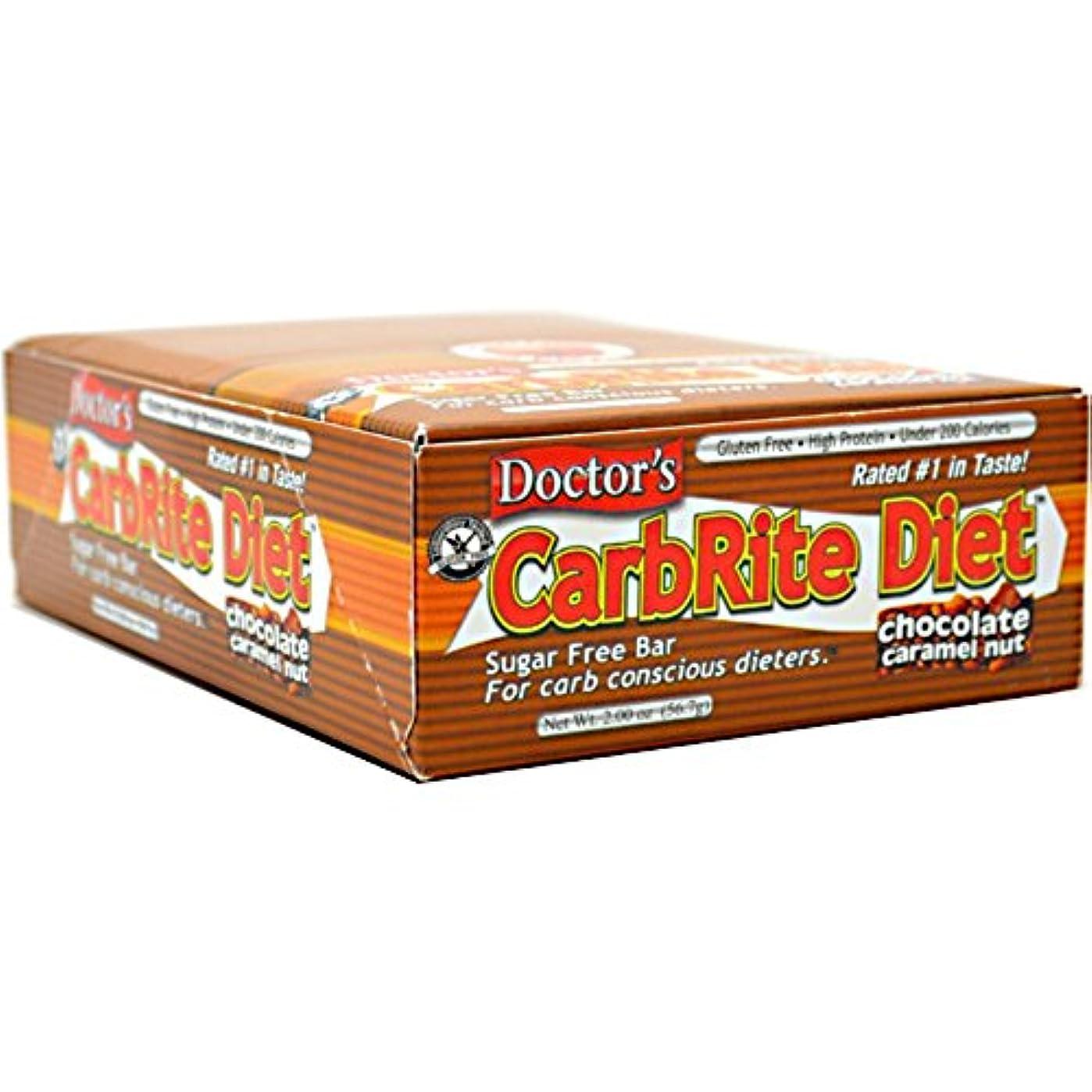 瀬戸際逃げる穿孔するUniversal Nutrition, Doctor's CarbRite Diet, Chocolate Caramel Nut, 12 Bars, 2.0 oz (56.7 g) Each