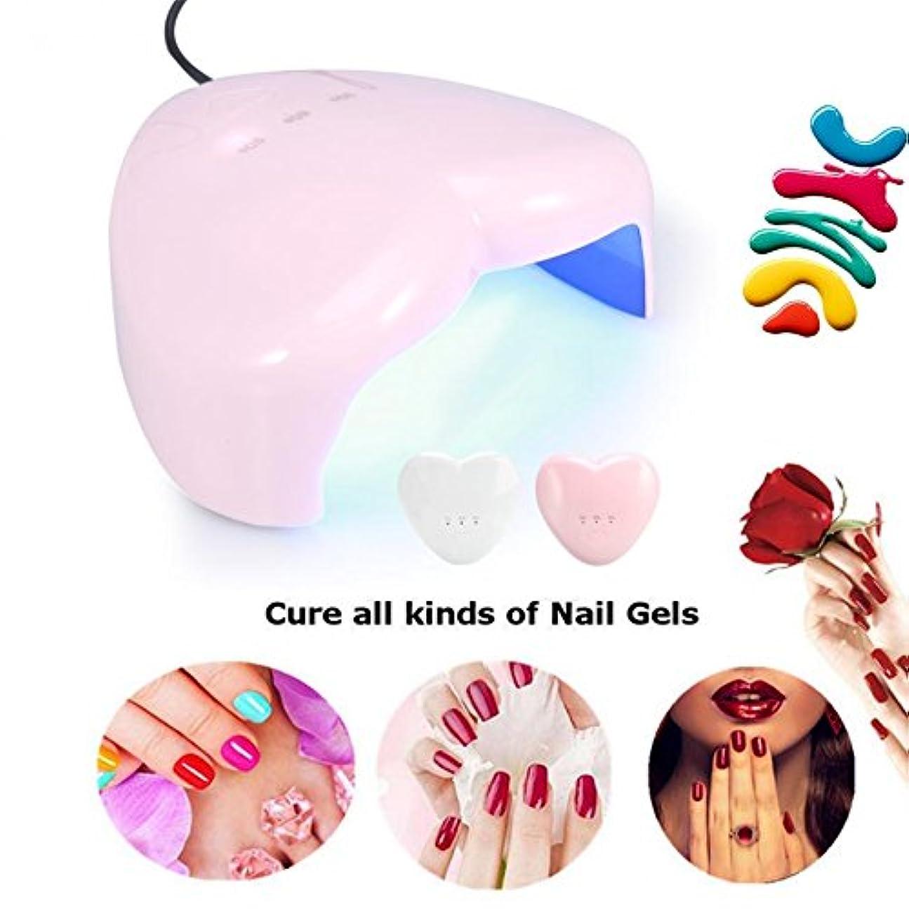 ウィスキー即席雄弁家18W Heart-shaped UV LED Lamp Nail Dryer USB Charging for Nail gel Polish Curing Drying Nail Art Manicure Drying Tools (Random color)