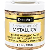 DecoArt Decoart Americana Decor Metallics 8oz 24K Gold, DECADMTL-36.4, 24K Gold, 1