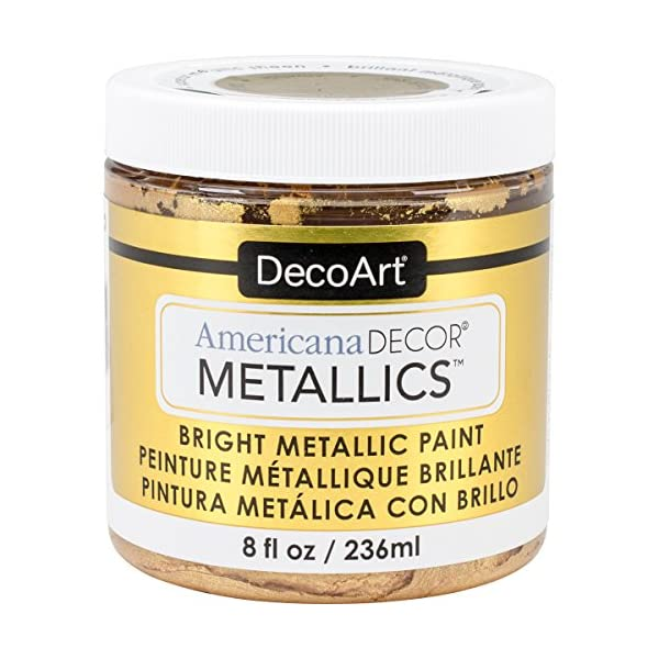 DecoArt Decoart Americana Decor Metallics 8oz 24K Gold, DECADMTL-36.4, 24K Gold, 1 1