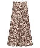 [リリーブラウン] ツートン植物柄ロングスカート LWFS194167 レディース BRW 日本 F (FREE サイズ)