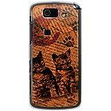 CaseMarket 【ポリカ型】 au AQUOS PHONE SL IS15SH ポリカーボネート素材 ハードケース [ Cat ウォールペーパー オレンジ ]