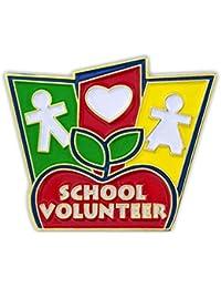 Pinmartの学校ボランティアエナメルラペルピン 5