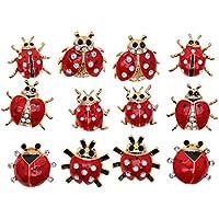 Baosity パーティー ブローチピン ラインストーン 合金 全4種類 飾り 約12個入り - 種類2