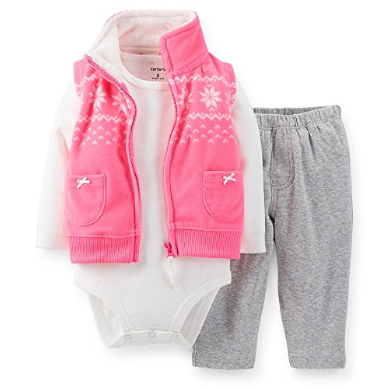 Carter's (カーターズ)フリース ベストパンツ 3点セット:3-Piece Fleece Vest Set 正規タグ保証