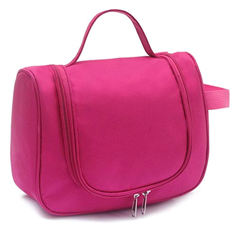 多機能旅行トイレタリーバッグオーガナイザー女性の女の子のための便利な化粧ポーチのメイクアップバッグ (色 : ローズレッド)